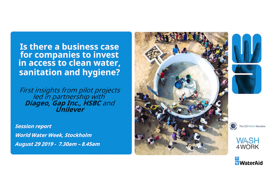 Strengthening the Business Case for WASH Breakfast Session Summary